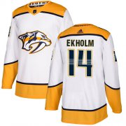 Wholesale Cheap Adidas Predators #14 Mattias Ekholm White Road Authentic Stitched Youth NHL Jersey