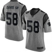 Wholesale Cheap Nike Panthers #58 Thomas Davis Sr Gray Men's Stitched NFL Limited Gridiron Gray Jersey