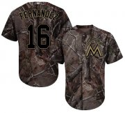Wholesale Cheap Marlins #16 Jose Fernandez Camo Realtree Collection Cool Base Stitched Youth MLB Jersey