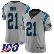Wholesale Cheap Nike Panthers #21 Jeremy Chinn Silver Men's Stitched NFL Limited Inverted Legend 100th Season Jersey