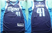Wholesale Cheap Dallas Mavericks #41 Dirk Nowitzki Revolution 30 Swingman Navy Blue Jersey