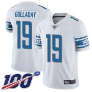 Wholesale Cheap Nike Lions #19 Kenny Golladay White Youth Stitched NFL 100th Season Vapor Limited Jersey