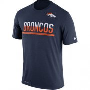 Wholesale Cheap Men's Denver Broncos Nike Practice Legend Performance T-Shirt Navy