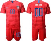 Wholesale Cheap USA Personalized Away Soccer Country Jersey
