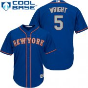 Wholesale Cheap Mets #5 David Wright Blue(Grey NO.) Cool Base Stitched Youth MLB Jersey