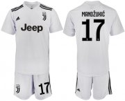 Wholesale Cheap Juventus #17 Mandzukic White Soccer Club Jersey