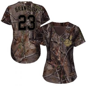Wholesale Cheap Indians #23 Michael Brantley Camo Realtree Collection Cool Base Women\'s Stitched MLB Jersey