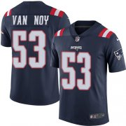 Wholesale Cheap Nike Patriots #53 Kyle Van Noy Navy Blue Men's Stitched NFL Limited Rush Jersey