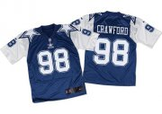Wholesale Cheap Nike Cowboys #98 Tyrone Crawford Navy Blue/White Throwback Men's Stitched NFL Elite Jersey