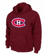 Wholesale Cheap NHL Montreal Canadiens Big & Tall Logo Pullover Hoodie Red