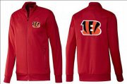 Wholesale Cheap NFL Cincinnati Bengals Team Logo Jacket Red