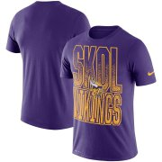Wholesale Cheap Minnesota Vikings Nike Local Verbiage Performance T-Shirt Purple