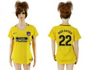 Wholesale Cheap Women's Atletico Madrid #22 Nico Gaitan Away Soccer Club Jersey
