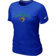 Wholesale Cheap Women's Nike Jacksonville Jaguars Heart & Soul NFL T-Shirt Blue