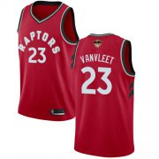 Wholesale Cheap Raptors #23 Fred VanVleet Red 2019 Finals Bound Basketball Swingman Icon Edition Jersey