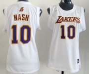 Wholesale Cheap Los Angeles Lakers #10 Steve Nash White Womens Jersey