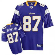 Wholesale Cheap Vikings #87 Bernard Berrian Purple Stitched NFL Jersey