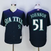 Wholesale Cheap Mariners #51 Randy Johnson Navy Blue New Cool Base Stitched MLB Jersey