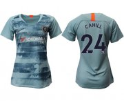 Wholesale Cheap Women's Chelsea #24 Cahill Third Soccer Club Jersey