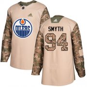 Wholesale Cheap Adidas Oilers #94 Ryan Smyth Camo Authentic 2017 Veterans Day Stitched NHL Jersey