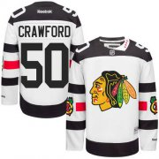Wholesale Cheap Blackhawks #50 Corey Crawford White 2016 Stadium Series Stitched Youth NHL Jersey