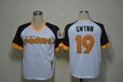 Wholesale Cheap Mitchell And Ness Padres #19 Tony Gwynn White Throwback Stitched MLB Jersey
