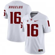 Wholesale Cheap Washington State Cougars 16 Aaron Angelos White College Football Jersey