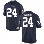 Wholesale Cheap Men's Penn State Nittany Lions #24 Miles Sanders Navy Blue College Football Stitched Nike NCAA Jersey