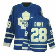 Wholesale Cheap Maple Leafs #28 Tie Domi Blue CCM Throwback Stitched NHL Jersey