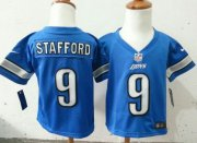 Wholesale Toddler Nike Lions #9 Matthew Stafford Blue Team Color Stitched NFL Elite Jersey