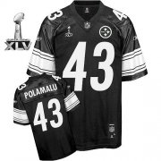 Wholesale Cheap Steelers #43 Troy Polamalu Black Shadow Super Bowl XLV Stitched NFL Jersey