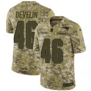 Wholesale Cheap Nike Patriots #46 James Develin Camo Men's Stitched NFL Limited 2018 Salute To Service Jersey