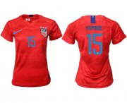 Wholesale Cheap Women's USA #15 Rapinoe Away Soccer Country Jersey