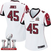 Wholesale Cheap Nike Falcons #45 Deion Jones White Super Bowl LI 51 Women's Stitched NFL Elite Jersey