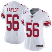 Wholesale Cheap Nike Giants #56 Lawrence Taylor White Women's Stitched NFL Vapor Untouchable Limited Jersey