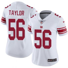 Wholesale Cheap Nike Giants #56 Lawrence Taylor White Women\'s Stitched NFL Vapor Untouchable Limited Jersey