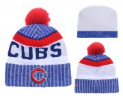 Wholesale Cheap MLB Chicago Cubs Logo Stitched Knit Beanies 008
