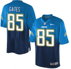 Wholesale Cheap Nike Chargers #85 Antonio Gates Electric Blue/Navy Blue Men\'s Stitched NFL Elite Fadeaway Fashion Jersey