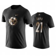 Wholesale Cheap Steelers #21 Sean Davis Black NFL Black Golden 100th Season T-Shirts