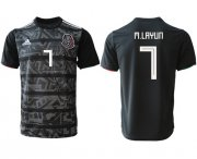 Wholesale Cheap Mexico #7 M.Layun Black Soccer Country Jersey