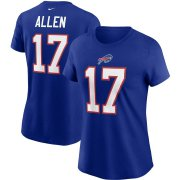 Wholesale Cheap Buffalo Bills #17 Josh Allen Nike Women's Team Player Name & Number T-Shirt Royal