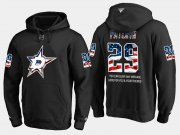 Wholesale Cheap Stars #29 Greg Pateryn NHL Banner Wave Usa Flag Black Hoodie