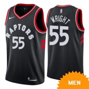 Wholesale Cheap Men's Nike Toronto Raptors #55 Delon Wright Black Statement Edition Swingman Jersey