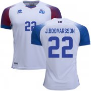 Wholesale Cheap Iceland #22 J.Bodvarsson Away Soccer Country Jersey