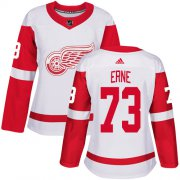 Wholesale Cheap Adidas Red Wings #73 Adam Erne White Road Authentic Women's Stitched NHL Jersey