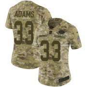 Wholesale Cheap Nike Jets #33 Jamal Adams Camo Women's Stitched NFL Limited 2018 Salute to Service Jersey