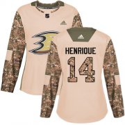 Wholesale Cheap Adidas Ducks #14 Adam Henrique Camo Authentic 2017 Veterans Day Women's Stitched NHL Jersey