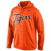 Wholesale Cheap Detroit Tigers Nike Men's KO Wordmark Perfomance Orange MLB Hoodie