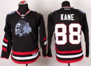 Wholesale Cheap Blackhawks #88 Patrick Kane Black(White Skull) 2014 Stadium Series Stitched Youth NHL Jersey