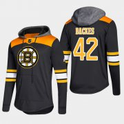 Wholesale Cheap Bruins #42 David Backes Black 2018 Pullover Platinum Hoodie